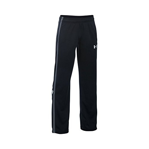Under Armour Boys' Champ Warm-Up Pants, Black/Graphite, Youth Large