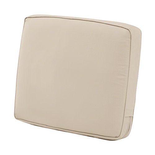 Classic Accessories Montlake Back Cushion Foam & Slip Cover, Antique Beige, 23x20x4