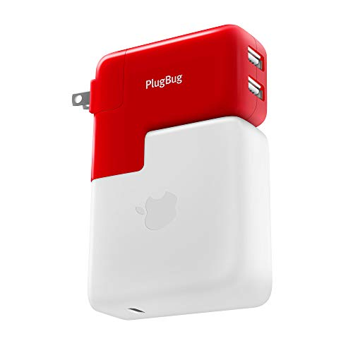 Twelve South Plugbug Duo - Newest Version - All-in-One MacBook GLOBAL Travel Adapter + Dual IPhone/iPad/USB charger