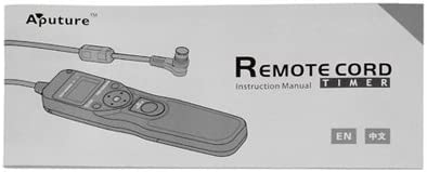 Aputure Remote Shutter Release Timer//Intervalometer 3C Camera Remote for Professional Canon Cameras Replaces Canons RS 80-N3
