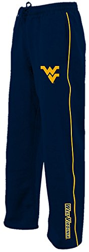 West Virginia Mountaineers Blue Velocity Poly Fleece Synthetic Sweatpants (L=34-35)