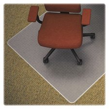 "Lorell LLR82824 Carpet Studded Vinyl Chair Mats, 2.6"" Height"