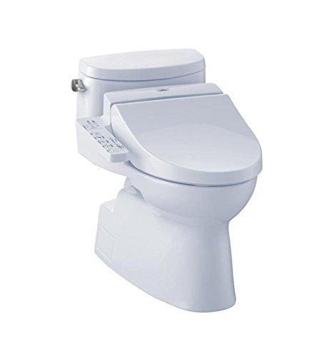 TOTO MW6442034CEFG#01 Carolina II Connect Plus Toilet, 1.28 GPF With Washlet C100, (Carolina One Piece Elongated Toilet)