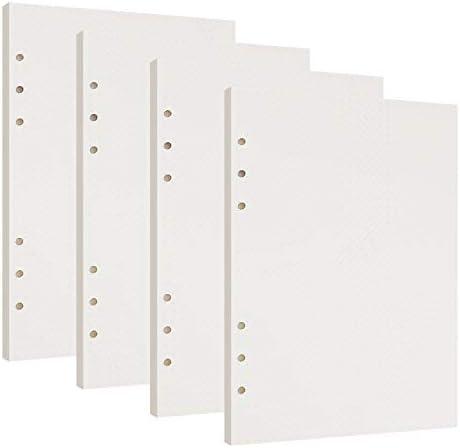 Gepunktetes Papier A5 6 Löcher Nachfüllpapier Dot Grid Paper Refill Paper Ersatzblätter für Filofax A5 Notizen DIY Bullet Journal Skizze Malerei 4 Packung, Insgesamt 180 Blätter