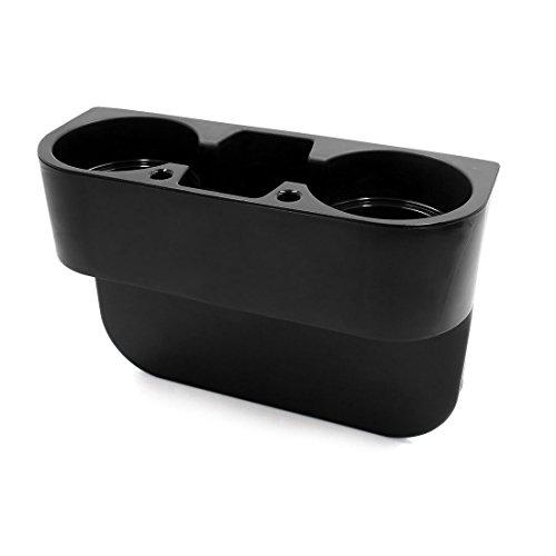 uxcell Universal Car Cup Holder Seat Seam Wedge Mount Stand Storage Organizer Drink Holder Black