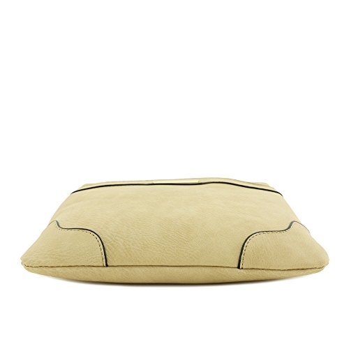 Classic Modern Bag with Light Plate Crossbody Size Solid Medium Gold Tan tqOSwZZ