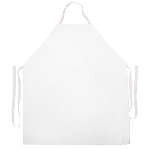 Attitude Aprons Fully Adjustable Solid Colored Cooking/Artist/Craft Apron-White