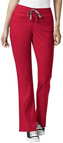 WonderWink PRO Pantalon à évasement modéré Lg Cargo Scrub pour femme Rouge