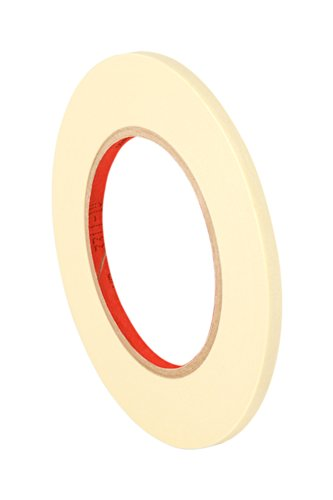 3M 2364 Performance Masking Tape - 0.25 in. x 180 ft. Tan, Rubber Adhesive, Crepe Paper Backing Painters Tape Roll