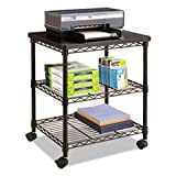 Safco Products Deskside Wire Machine Stand, Black
