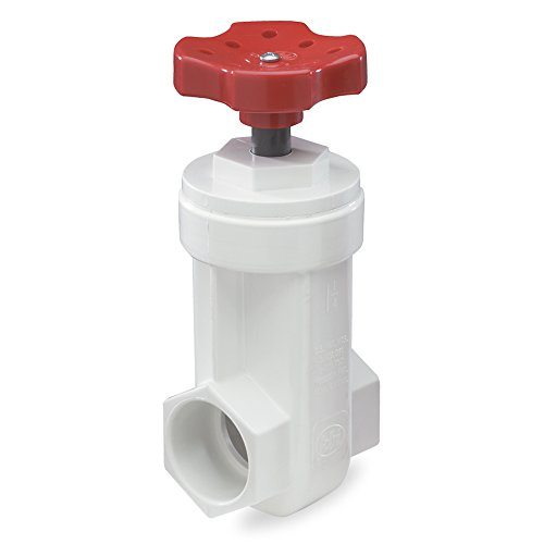 King Brothers Inc. GVP-1000-S 1-Inch Slip PVC Schedule 40 Gate Valve, White by King Brothers Inc.