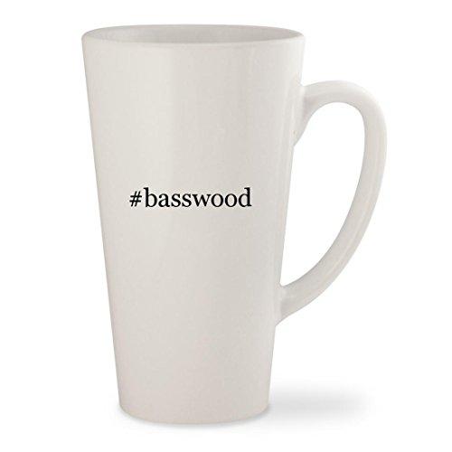 #basswood - White Hashtag 17oz Ceramic Latte Mug Cup