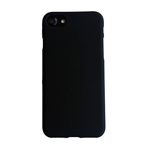B&L iPhone 7 und iPhone 8 4,7 Zoll schwarze Schutz-Hülle silikon TPU fein-matt schwarz slim Case Cover thin grip solid black Kameraschutz Linsenschutz soft black 1,0mm