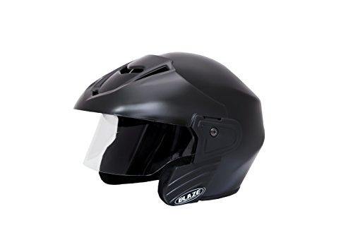 Mototrance Blaze Trace Open Face Helmet ,Matt Black,L