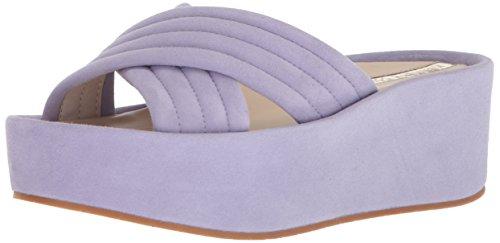 Kenneth Cole New York Women's Damariss Platform X-Band Slip Slide Sandal, Lavendar, 8 M US (Slip Sandals Suede)