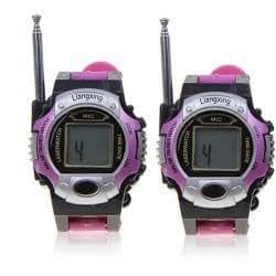 Excellent One Pair of Watch 2-Way Radio Walkie Talkie Interphone Toy with Antenna - Purple