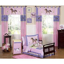 Sweet Jojo Designs 5-Piece Pretty Pony Horse Toddler Bedding Girls Set