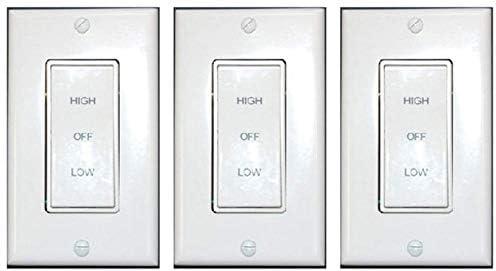 Air Vent 58030 2-Speed Rocker Whole House Fan Switch White