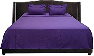 Brightlinen Purple Single (90 X 190 Cm) Sheet Set Solid(pocket Size: 30 Cm) 6pcs