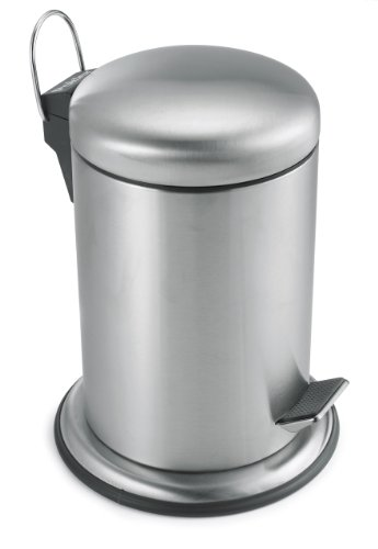 Polder Commercial Style Step Can, Stainless Steel, 1.3-Gallon (Cans Trash Polder)
