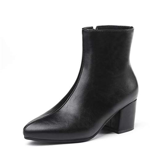 Winter New Pattern Sharp Head Silvery Fashion Boots Women Cashmere Keep Warm Martin Ankle Boots ()
