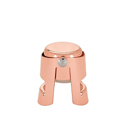 Wine Bottle Stopper, Reusable Copper Chrome Champagne Glass Wine Stopper (Sold by Case, Pack of 12)