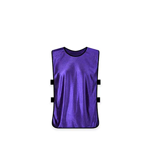 (Yevison Team Training Vests Scrimmage Pinnies Vests Sports Clothes for Adult Purple Durable and Practical)