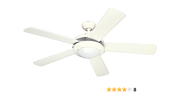 Westinghouse Lighting 7801765 Downrod Mount 5 White Blades Ceiling Fan With 61 Watts Light White Amazon Com