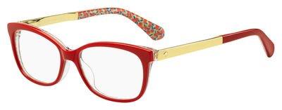 Eyeglasses Kate Spade Jodiann 0XSU Red Green Palladium - York Eyeglasses New
