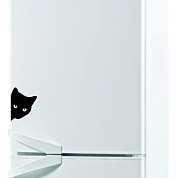 Amazon.com: vinstickers – Peeking gato negro pegatinas – la ...