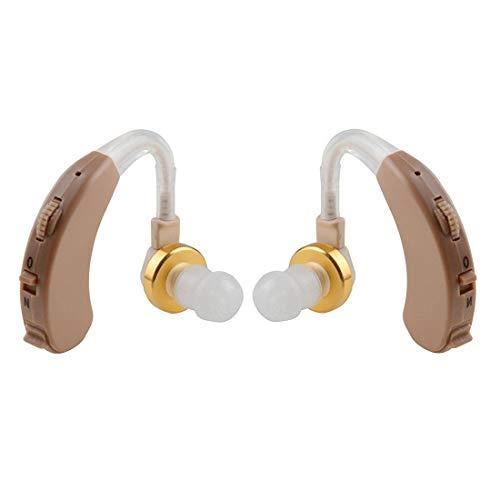 AUDITECH® Ultra Sound Enhancement Amplifier Diamond Behind The Ear Hearing Aid for Both Ears (Beige)