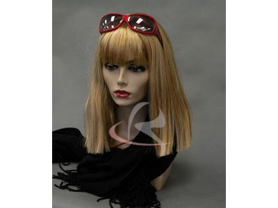 ((MD-PH17) ROXY DISPLAY Realistic Female Mannequin Head Flesh Tone Pretty make-up, Jewlery Display.)