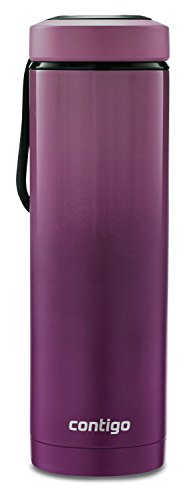 Contig Vacuum-Insulated Stainless Steel Water Bottle with a Quick-Twist Lid, 24 oz, - Paper Merlot