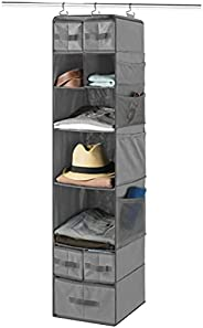 9 Shelf Hanging Closet Organizer with 5 Drawer Organizers, Baby Nursery Closet, Diaper Caddy Organizer, Slotte