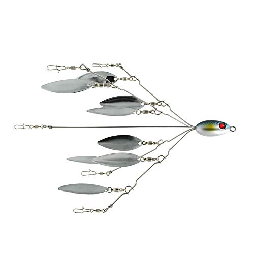 SF 5 Arms Alabama Umbrella Rigs with Blades for Fishing Bass Lures Bait Kit Ultralight Willow Blade Multi-Lure Rig