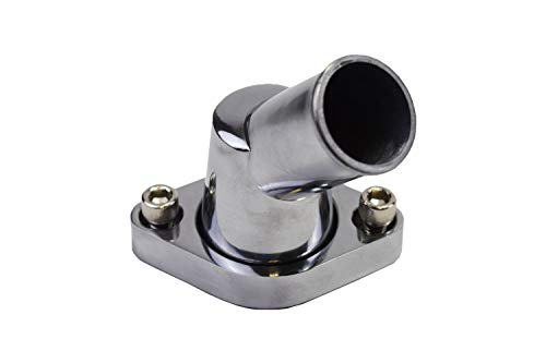 A-Team Performance 45/° SWIVEL POLISHED WATER NECK THERMOSTAT HOUSING COMPATIBLE WITH SBC BBC CHEVY 283 302 305 327 350 383 396 427 454 502