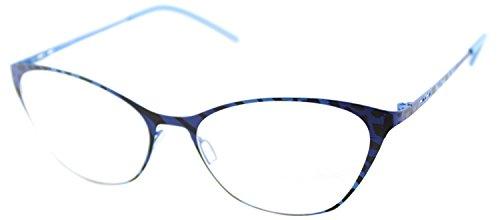Italia Independent 5215 I-THIN IBR 027 IBRID Sky Led Metal Cat Eye - Italia Eyeglasses