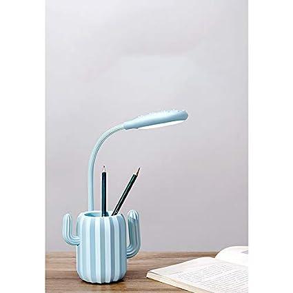 Plastique Tmacok Pot /à Crayons pour Lampe de Table avec Chargeur LED 13.5 * 9.8 * 41.5cm Rose