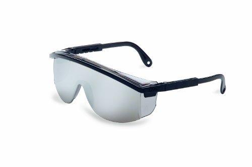 (Uvex S137 Astrospec 3000 Safety Eyewear, Black Frame, Silver Mirror Ultra-Dura Hardcoat Lens )