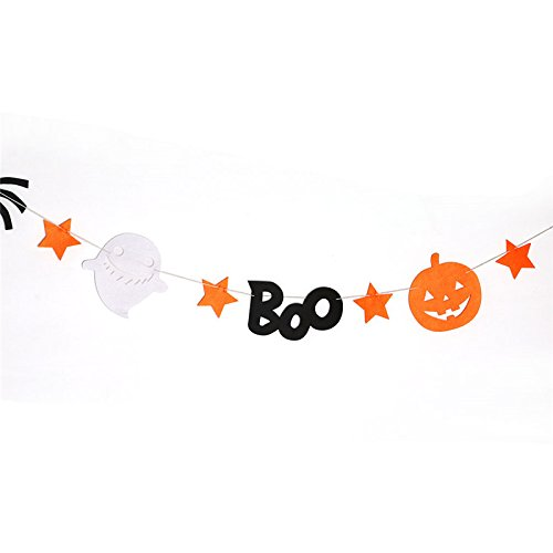 Gigamax(TM) 240cm Halloween Banners Party Decor Happy Halloween Garland Bunting Flag Star Moon Pumpkin Banner Home Decore GI674605[type1] -