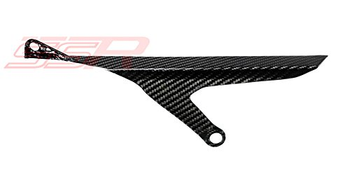 (2015-2017) Yamaha YZF R1 / R1S / R1M (100%) Twill Carbon Fiber Rear Sprocket Chain Guard Cover Panel [Same Weave Pattern & Gloss Finish As the Yamaha YZF-R1M]