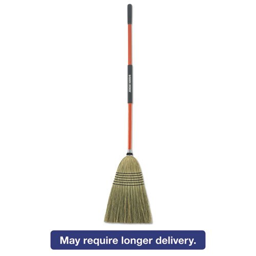 Black+Decker 261020 Large Corn Broom, Corn Bristles, 16 1/2'' Bristles Length, 55-1/2'' Overall Length, Orange/Black by BLACK+DECKER