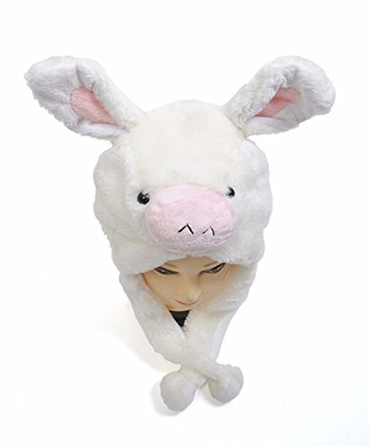 Diy Princess Tutu Costumes (Cartoon Animal Hat Fluffy Plush Cap - Unisex (US Seller)Pig Pink_New_Warm Cap Earmuff Gift)