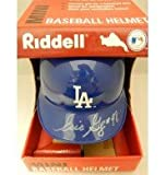 Signed Gagne, Eric (Los Angeles Dodgers) Riddell Los Angeles Dodgers Mini Helmet. (Start of signature lighter than rest due to pen not working well) autographed