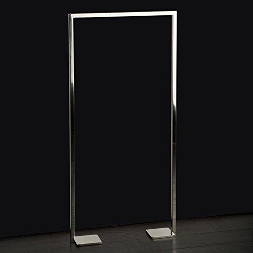 [해외]라카 바 (Lacava) 스테인레스 스틸 바닥 고정 타월 스탠드, 고정 바닥 킷 포함. /Lacava Floor-mount towel stand made of stainless steel, fixing floor kit included. 19 3 4 W, 4 D, 41 3 8 H Brushed Stainless