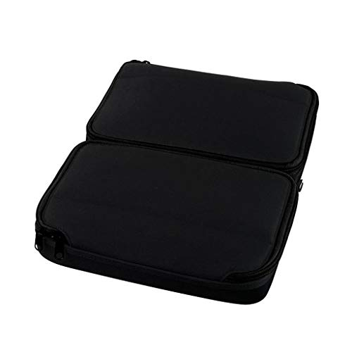 FeiFei66 Portable Cosmetics Bag Expandable Travel Cosmetic Organizer Ladies Multifunctional Storage Case (Black)