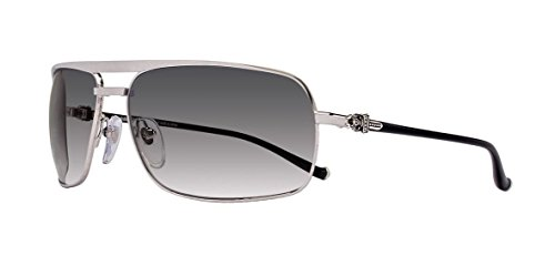 Chrome Hearts - Bait - Sunglasses (Brushed Silver, Cobalt Gradient) by Chrome Hearts