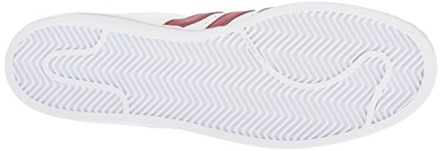 Adidas Originali Mens Superstar Casual Sneake Bianco / Bordeaux / Oro Metallizzato