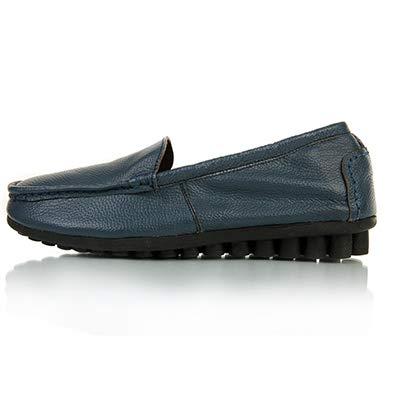 FLYRCX Planos Zapatos de Cuero Maternidad de Casuales cómodos de Zapatos D y Sueltos Zapatos Trabajo de Primavera otoño Antideslizantes rAqxt5r