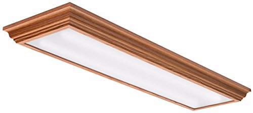Lithonia Lighting FMFL 30840 CAML OA 4-Foot LED Cambridge Linear Flush Mount, 2800 Lumens, 120 Volts, 35 Watts, Damp Listed, Oak